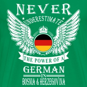 German-THe power of an German in Bosnia - Men's Premium T-Shirt