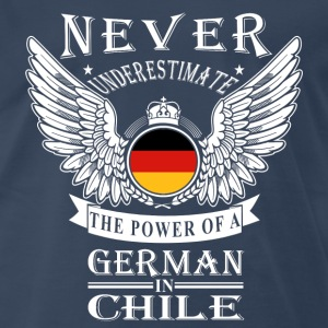 German-The power of a German in Chile tee - Men's Premium T-Shirt
