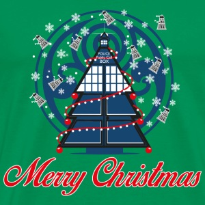 Tardis-Tardis awesome christmas sweater for police - Men's Premium T-Shirt
