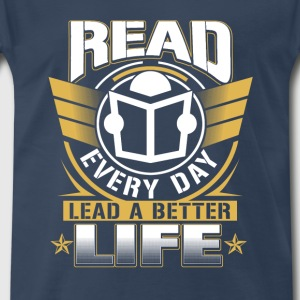 National librarian week-Read every day t-shirt - Men's Premium T-Shirt