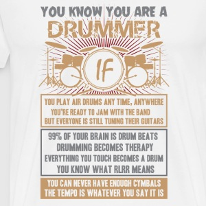 Drummer-Drummer play air drums any time,anywhere - Men's Premium T-Shirt