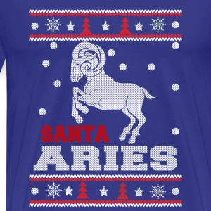 Santa Aries-Awesome Christmas sweater for aries - Men's Premium T-Shirt