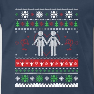 Lesbian-Christmas sweater for les supporter - Men's Premium T-Shirt