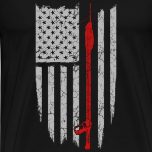 Tas spear fishing- spear fishing flag t-shirt - Men's Premium T-Shirt
