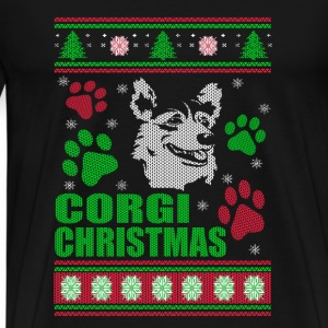 Corgi-Corgi Christmas sweater for Corgi lovers - Men's Premium T-Shirt