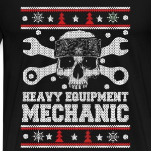 Heavy equipment mechanic christmas sweater - Men's Premium T-Shirt
