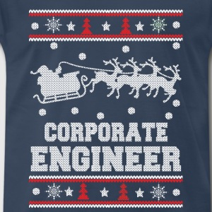Corporate engineer-Engineer christmas sweater - Men's Premium T-Shirt
