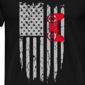 Gamer-American gamers for gaming fans - Men's Premium T-Shirt
