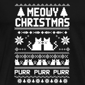 Meowy-christmas sweater for cats lovers - Men's Premium T-Shirt