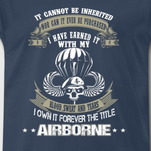 Airborne-I've earned it with my blood and tears - Men's Premium T-Shirt