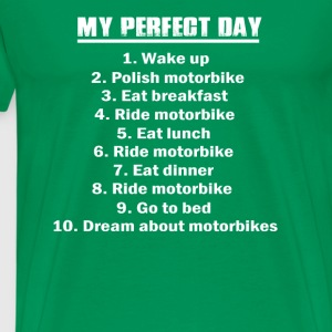 Perfect day-Daily routine for a perfect day tee - Men's Premium T-Shirt