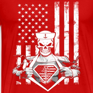 Super sailor-Sailor flag t-shirt for american - Men's Premium T-Shirt