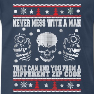 Sniper-Never mess with an sniper awesome tee - Men's Premium T-Shirt