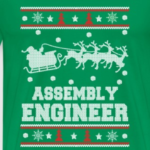 Assembly engineer-Engineer christmas sweater - Men's Premium T-Shirt