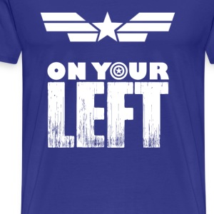 Captain america-Captain is on your left t-shirt - Men's Premium T-Shirt