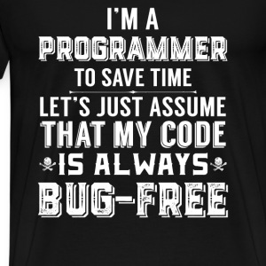 Programmer-My code is always bug-free t-shirt - Men's Premium T-Shirt