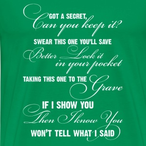 Secret song-secret's lyrics t-shirt for fans - Men's Premium T-Shirt