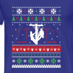 Lineman-Christmas sweater for lineman lovers - Men's Premium T-Shirt