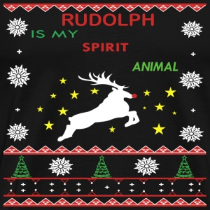 Rodolph-Rudolph is my spirit animal sweater - Men's Premium T-Shirt