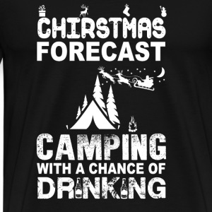 Camping-Christmas forecase awesome sweater - Men's Premium T-Shirt