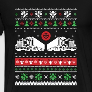 Trucker-Trucker awesome christmas sweater - Men's Premium T-Shirt