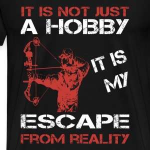 Bowhunting-It is my escape from reality t-shirt - Men's Premium T-Shirt