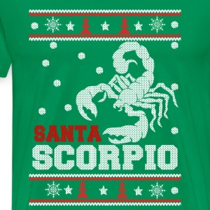 Santa scorpio-Scorpio awesome christmas sweater - Men's Premium T-Shirt
