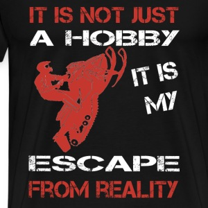 Snowmobile-It is my escape from reality - Men's Premium T-Shirt