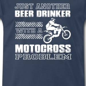 Motocross-Just another beer drinker with motocross - Men's Premium T-Shirt