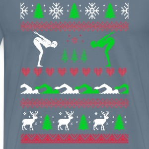 Swimmer Chirstmas Sweater - Men's Premium T-Shirt