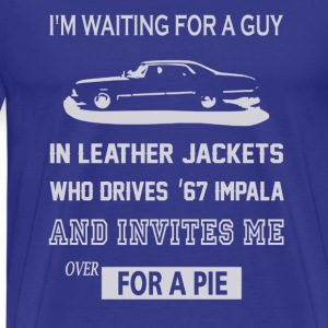 I'm waiting for a guy in leather jackets - Men's Premium T-Shirt