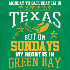 Live in Texas heart in Green Bay - Men's Premium T-Shirt