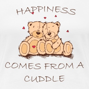 Happiness Comes From a Cuddle Women's T-Shirts - Women's Premium T-Shirt