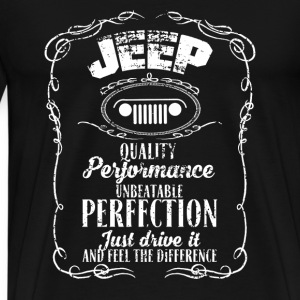Jeep - Just drive it and feel the difference - Men's Premium T-Shirt