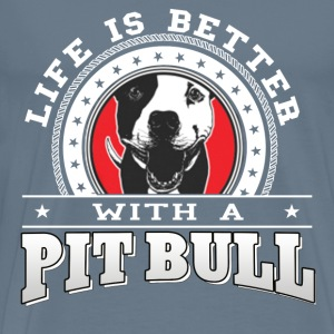Pit Bull lovers - Life is bitter with a pit bull - Men's Premium T-Shirt