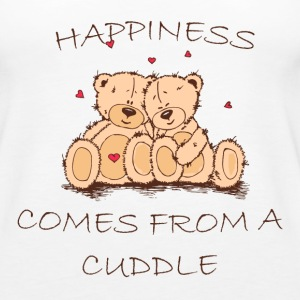 Happiness Comes From a Cuddle Tanks - Women's Premium Tank Top