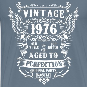 Vintage 1976 birthday - Aged to perfection - Men's Premium T-Shirt