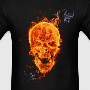 skull fire - Men's T-Shirt