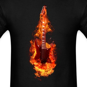 fire guitar - Men's T-Shirt