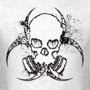 radioactive skull - Men's T-Shirt