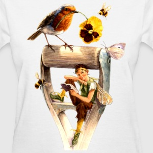 Gnome and birds - Women's T-Shirt