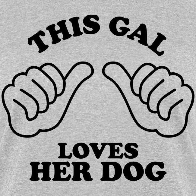 Two Thumbs Dog Gal - Womens T-shirt