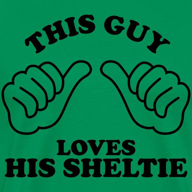 Two Thumbs Sheltie Guy - Mens Big & Tall T-shirt