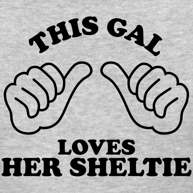 Two Thumbs Sheltie Gal - Womens T-shirt