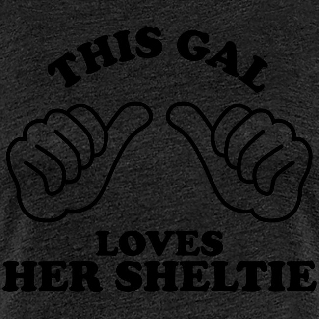 Two Thumbs Sheltie Gal - Womens Plus Size T-shirt