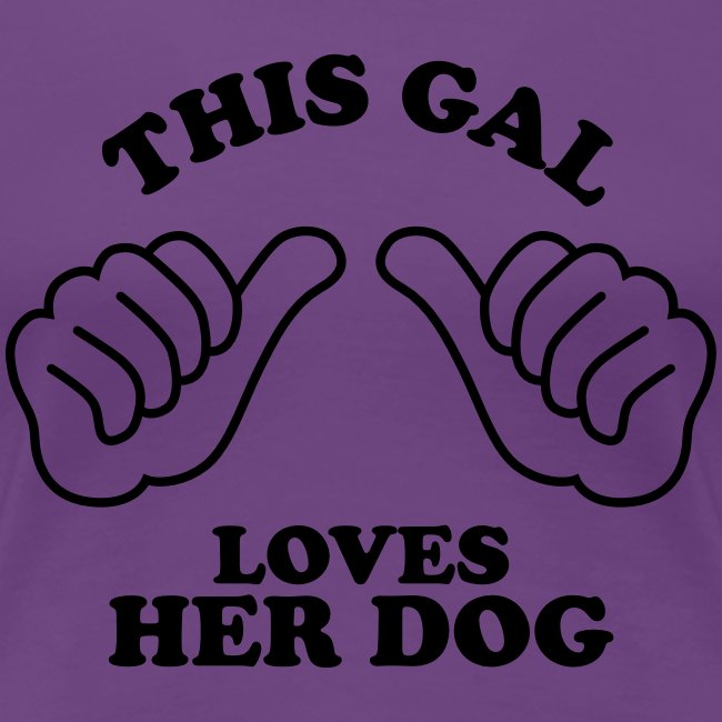 Two Thumbs Dog Gal - Womens Plus Size T-shirt