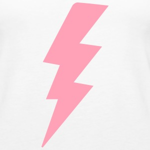 White x Pink Lightning  - Women's Premium Tank Top