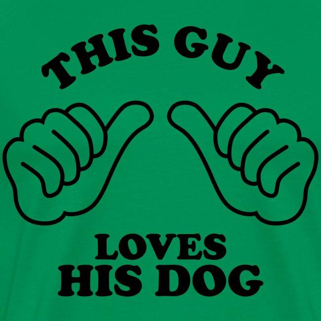 Two Thumbs Dog Guy - Mens Big & Tall T-shirt