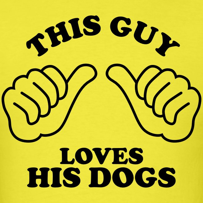 Two Thumbs Dogs Guy - Mens T-shirt