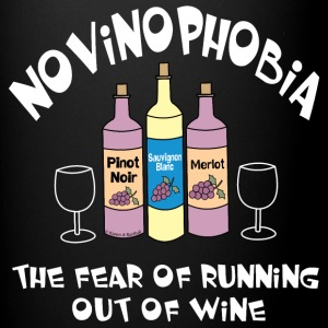 Novinophobia Bottles White Text Mugs & Drinkware - Full Color Mug